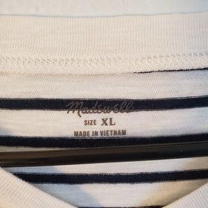 Madewell Tops - Madewell Boxy Stripe Tee Size XL